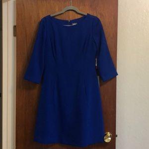 Blue dress a-line 3/4 sleeves